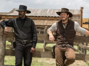 "Denzel Washington and Chris Pratt headline Sony's remake of ""The Magnificent Seven"". (Columbia Pictures)"